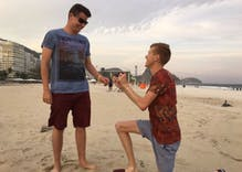 Gay Olympian Tom Bosworth asks boyfriend to marry him on beach in Rio