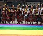 Showing gay pride in Kathmandu (yes, that's how it's spelled)
