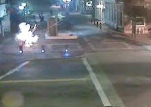 Watch as a bomb explodes inside a Massachusetts LGBT newspaper's box