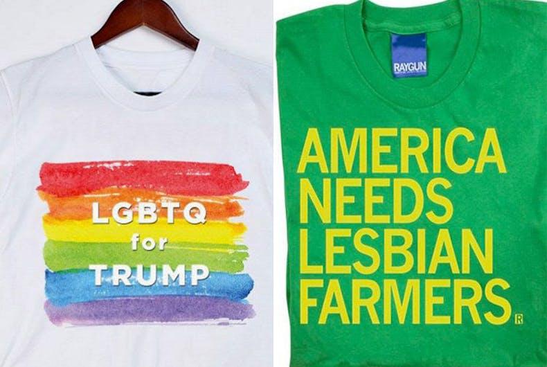 Two tees, two philosophies: 'LGBTQ for Trump' vs. lesbian farmers