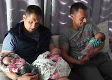 Meet the gay dads and their history-making triplets: Joshua, Zoe, Kate