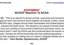 North Carolina GOP comes unhinged over NCAA decision to pull games over HB2