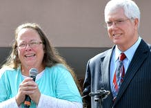 Kim Davis' lawyer defends antigay pastor accused of crimes against humanity