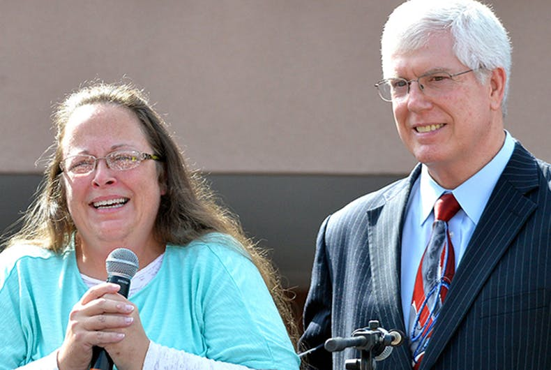 Kim Davis and attorney Mat Staver
