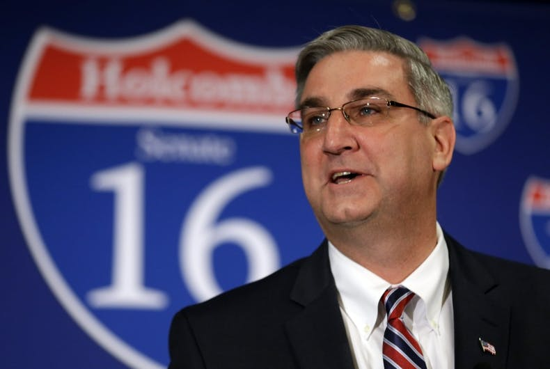 Indiana's lieutenant governor says LGBT rights aren't important