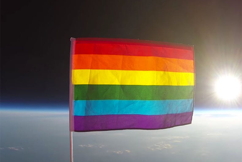We're everywhere! Pride flag flies to the edge of space