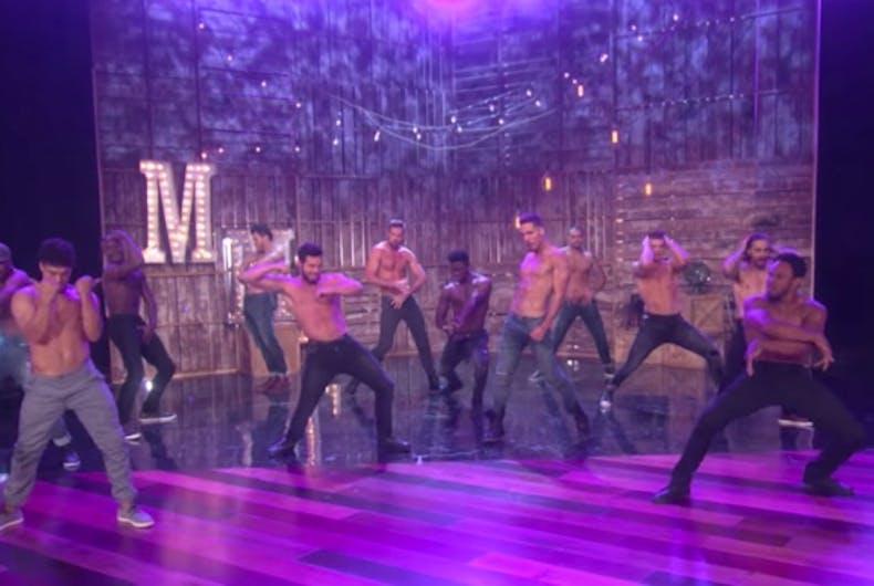 Channing Tatum previews Magic Mike Live on Ellen DeGeneres show