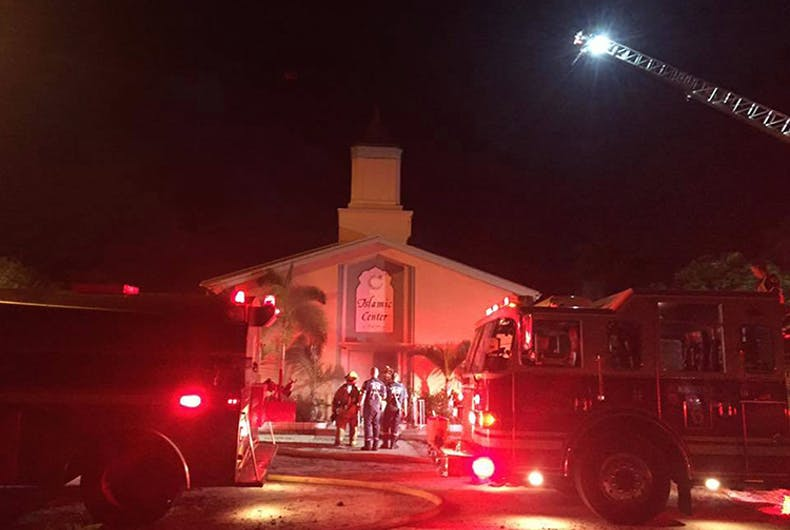 Florida mosque attended by Pulse gunman set ablaze