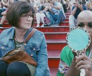 Watch: Drag queen transforms in Times Square, makes unexpected friend