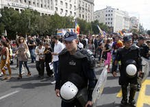 Serbian police cordon off central Belgrade to protect pride march