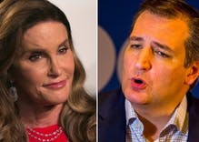 Was loudmouth Ted Cruz dumbstruck when confronted by Caitlyn Jenner on the Hill?