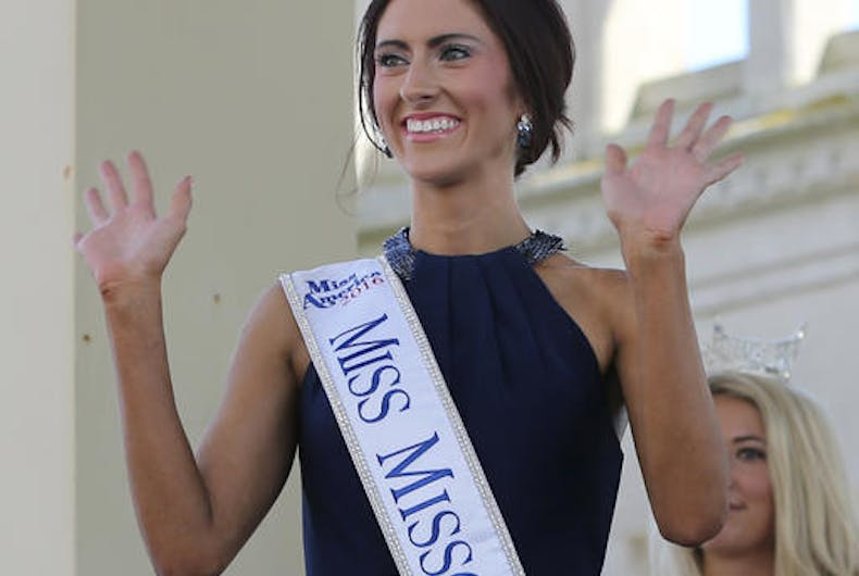 There she is: Out of the closet, and ready for Miss America