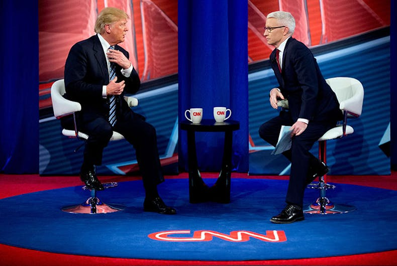 Donald Trump wants to tell Anderson Cooper: 'You're fired!' (Except he can't)