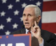 Mike Pence slams 'status quo' Clinton, says Trump should pick Supreme Court