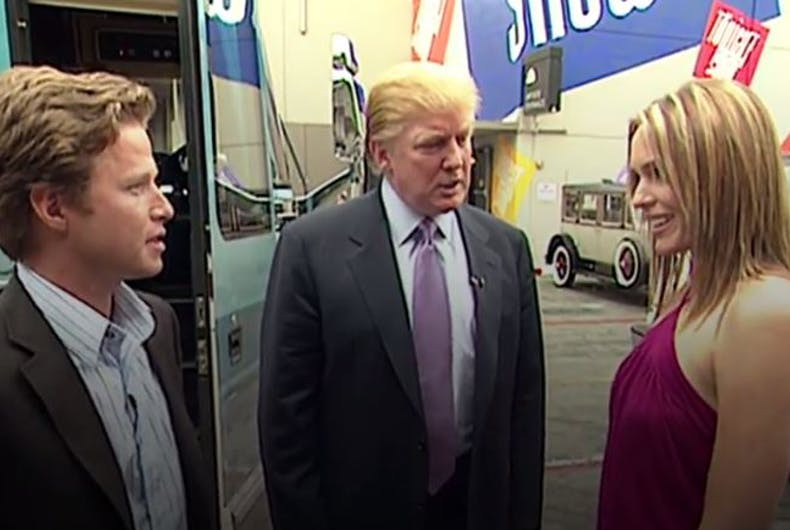 Hot mic catches Donald Trump being Donald Trump in crude convo about women