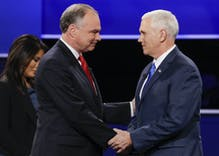 Why wasn't Mike Pence's history of homophobia mentioned in the debate?