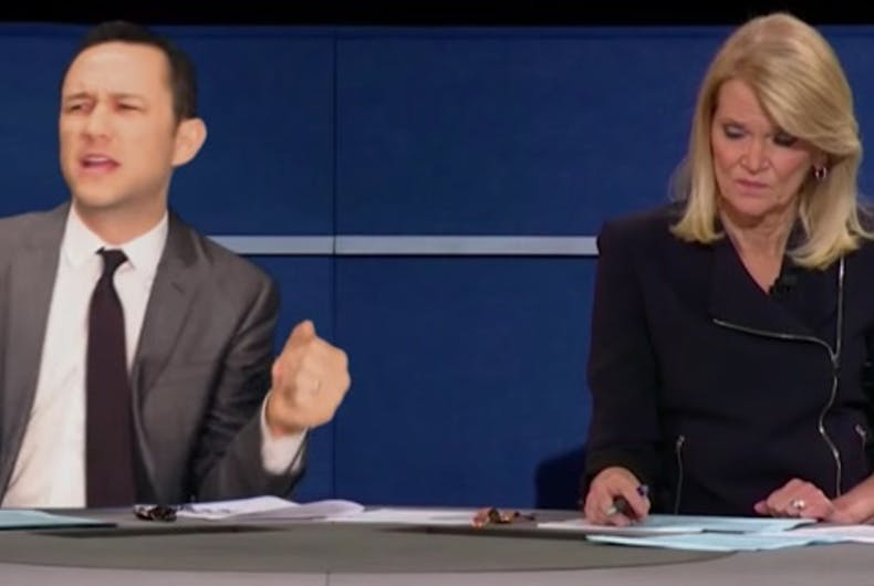 Joseph Gordon-Levitt's songified version of the debate will win the web today