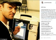 UPDATED: Justin Timberlake's voting selfie may land him in jail for 30 days