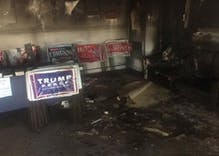 North Carolina GOP office firebombed, spraypainted with Nazi graffiti