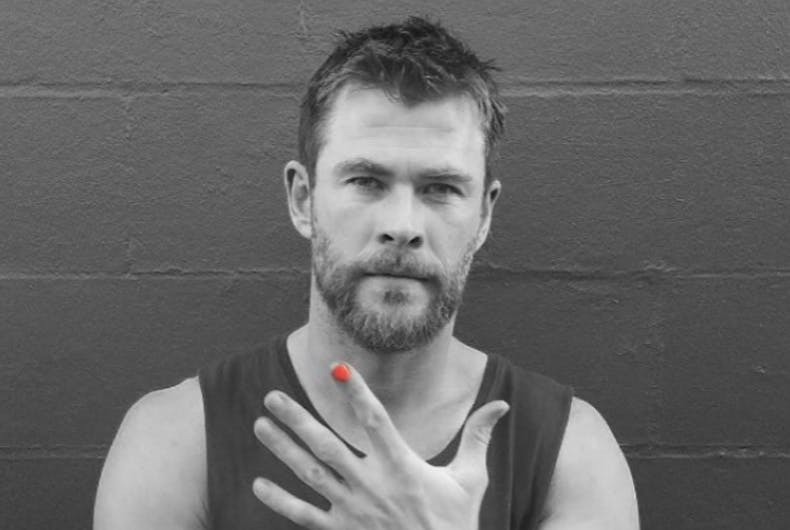Why is Chris Hemsworth asking male celebrities to paint their nails?