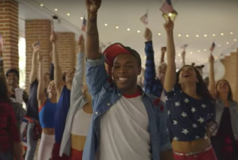 Watch: Gay celeb Todrick Hall surprises fan with pro-Hillary flash mob
