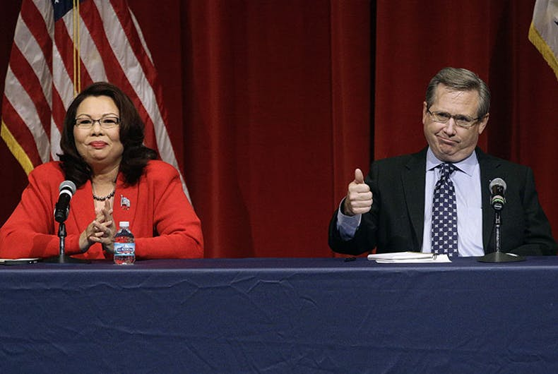 Under pressure, HRC revokes endorsement of repeatedly racist Sen. Mark Kirk