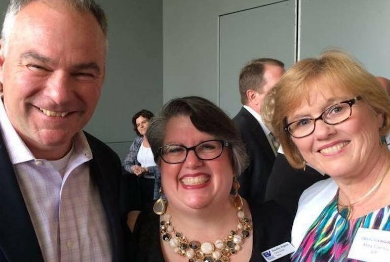 Tim Kaine invited a married lesbian couple to the vice presidential debate