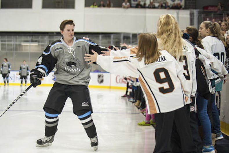 Hockey player comes out as first transgender player in a pro team sport