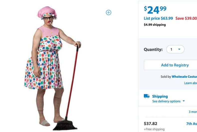 UPDATED: Walmart yanks 'tranny granny' Halloween costume from website