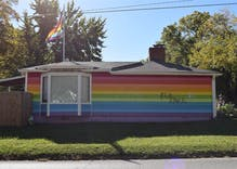 Topeka's rainbow Equality House hit with bullets and graffiti