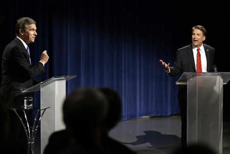 McCrory, Cooper blasted each other on LGBT law in NC gubernatorial debate