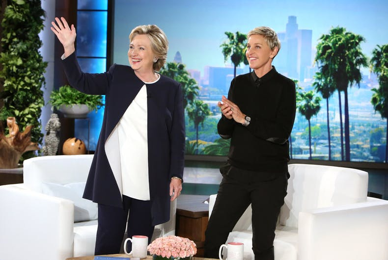 Watch: Clinton talks Trump, dances with Ken Bone on 'The Ellen Show'
