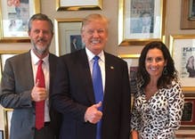 Jerry Falwell Jr blames his fall from grace on his wife