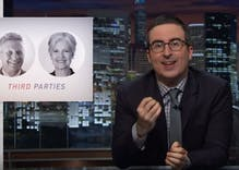 Watch: John Oliver destroys third party candidates Jill Stein and Gary Johnson