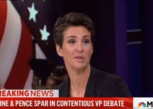 Watch: Rachel Maddow frustrated Pence wasn't asked about LGBTQ rights