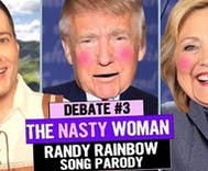 Randy Rainbow wins again with third debate song parody 'The Nasty Woman'