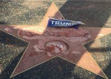 Donald Trump's Hollywood Walk of Fame star demolished by guy with a pickaxe