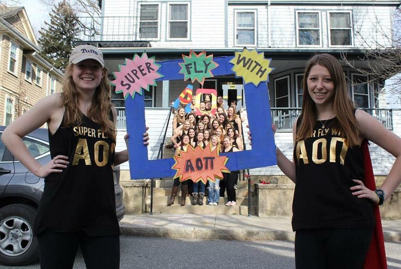 Half of Massachusetts sorority quits in protest of opposition to trans recruit