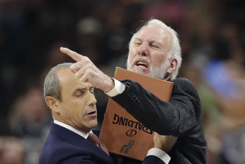 Spurs' Gregg Popovich criticizes Trump's bullying of gays, minorities