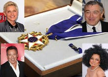 Obama to award highest civilian honor to Ellen, Bruce, Diana Ross, Robert DeNiro