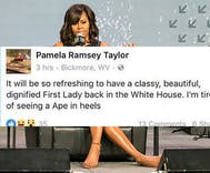 West Virginia town reels after 'Ape in heels' racist rant against Michelle Obama