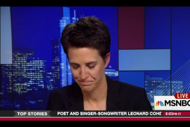 Watch: Rachel Maddow chokes up describing Mike Pence's anti-LGBT policies
