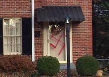 Vandals paint swastika on front door of Trump supporter in Maryland