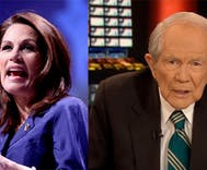 Michele Bachmann, Pat Robertson credit God for FBI letter on Clinton emails