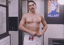 James Franco steps out of shower to endorse Hillary Clinton in new ad