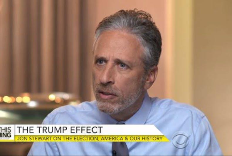 jon stewart trump election