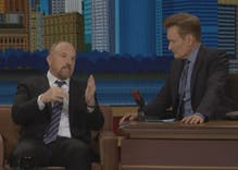 Louis C.K. makes perfect pitch for Hillary Clinton to Conan O'Brien