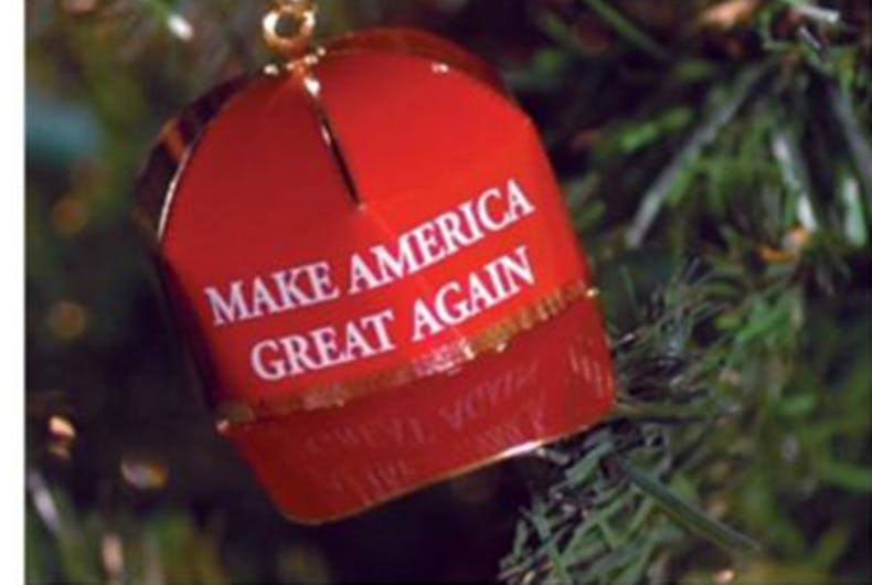 Trump selling 'Make America Great Again' ornament for $149 because populism