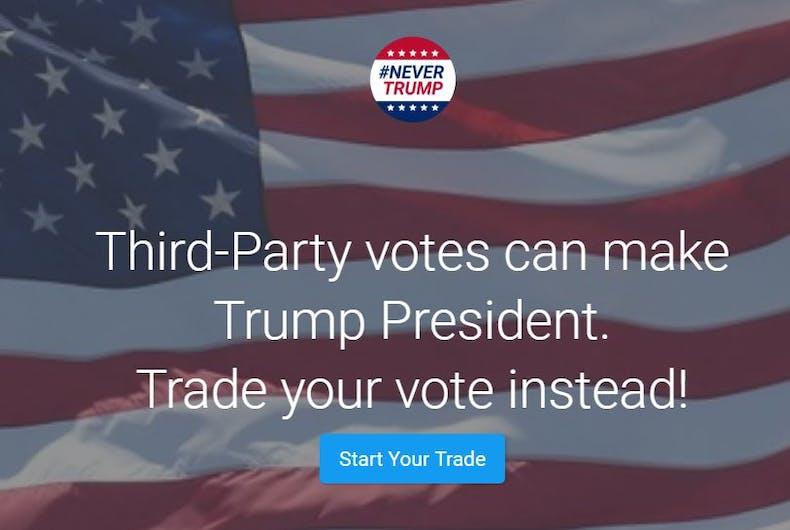 Donald Trump vote swapping Clinton