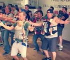 These daddies dancing with their babies will put a smile on your face